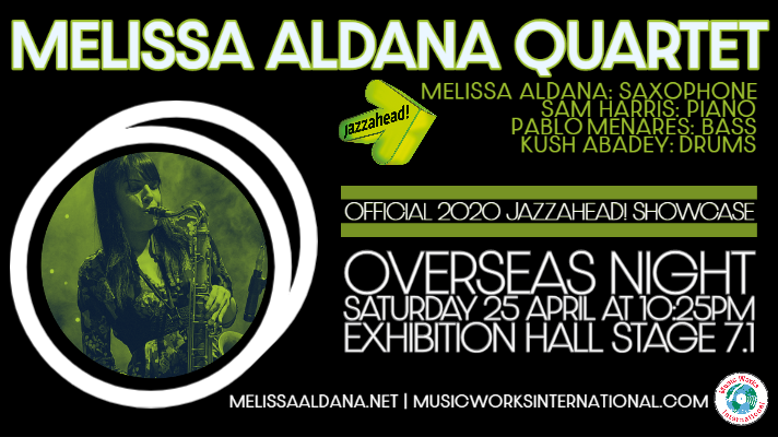 Rising Star Saxophonist Melissa Aldana Debuts At Jazzahead! This April